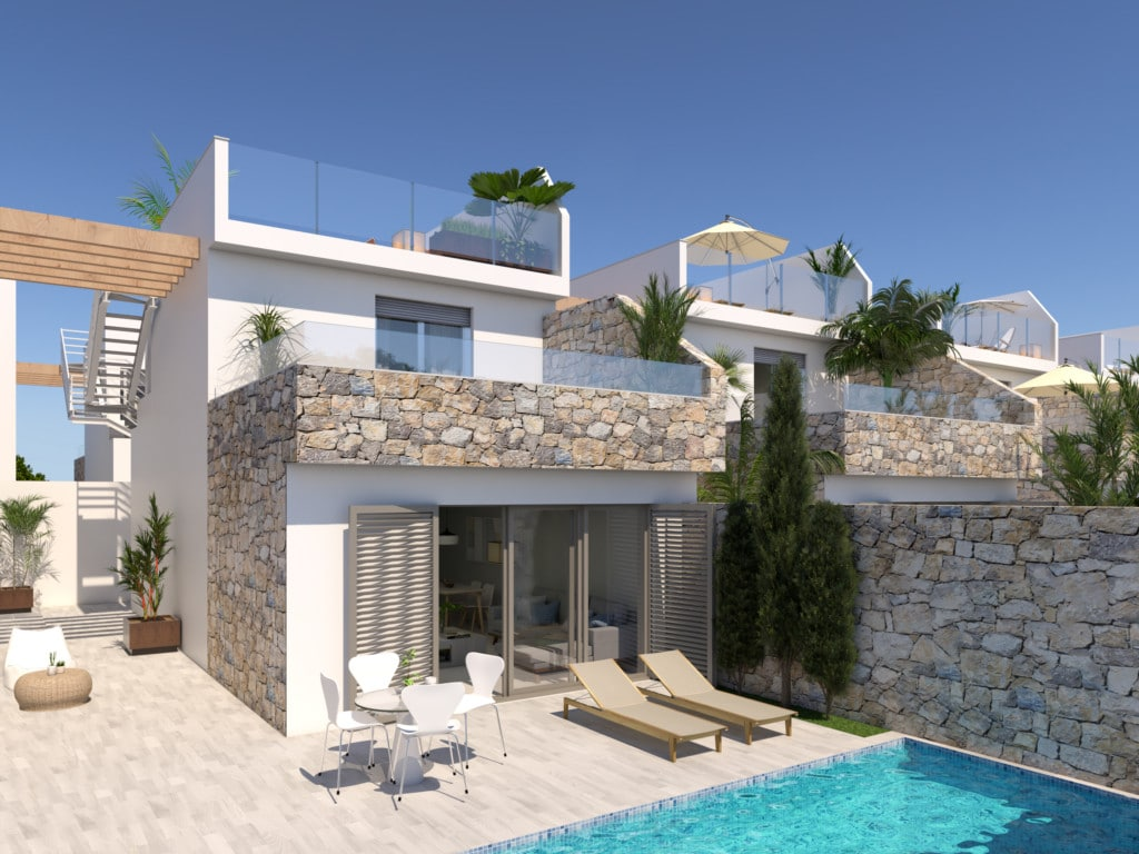 Luxury Villas 400m from the Beach – Los Alcazares