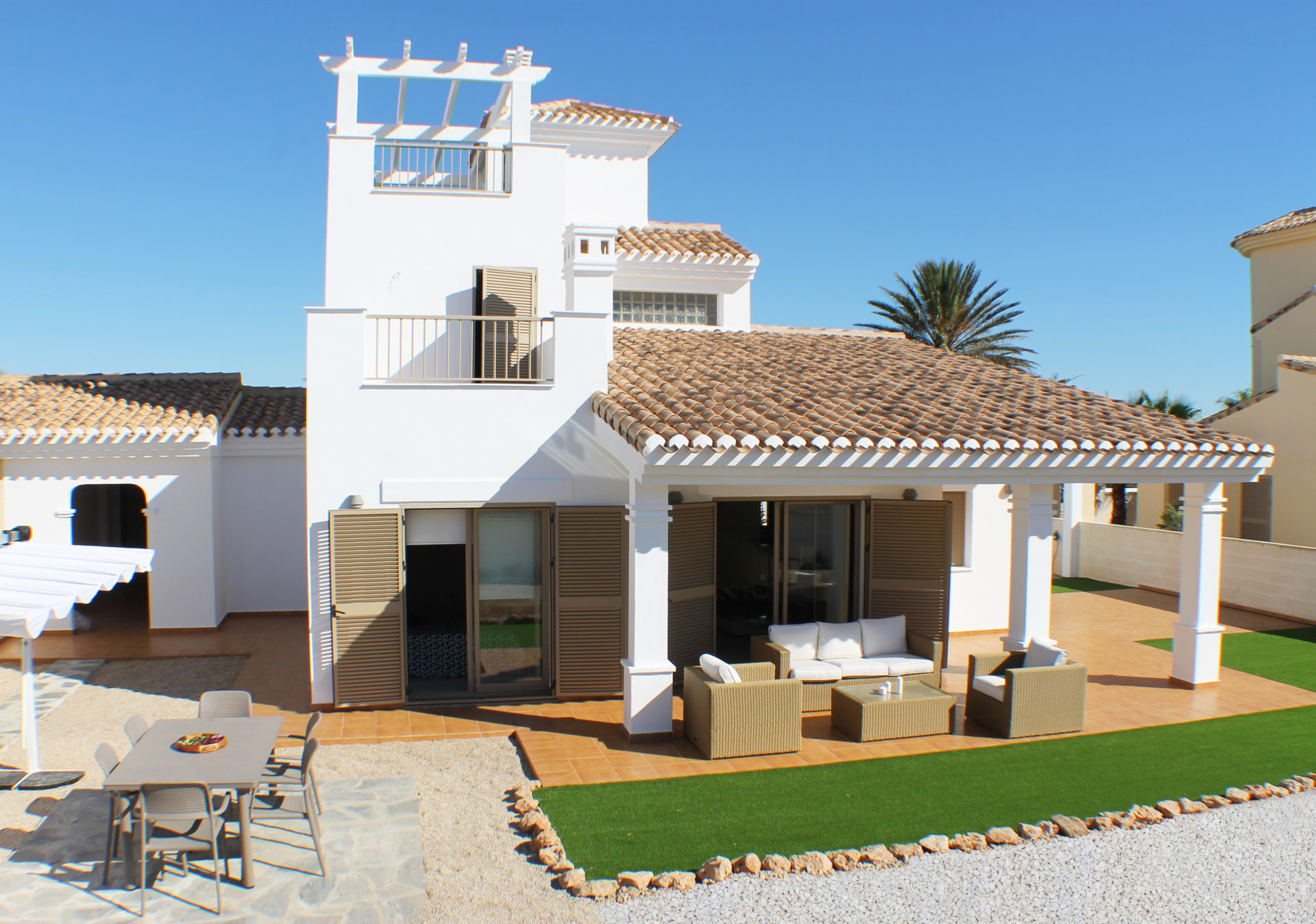 8 Only Magnificent Key Ready Detached Villas with Garage La Manga